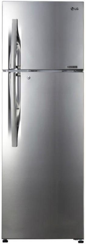 LG 360 L Frost Free Double Door 4 Star Refrigerator(Shiny Steel, GL-R402JPZN)