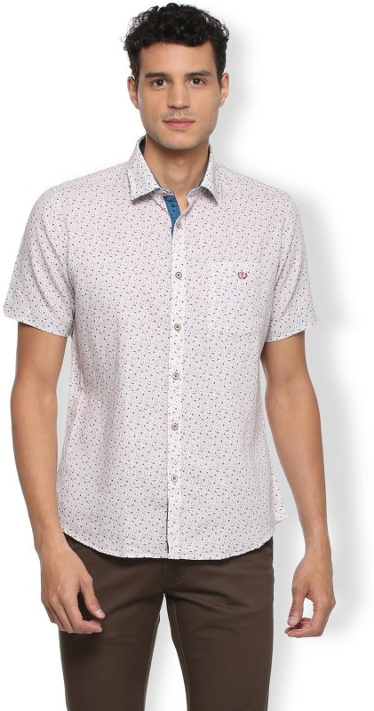 Van Heusen Men Printed Casual Spread Shirt