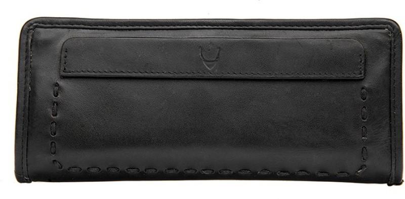 Hidesign Women Casual Black Genuine Leather Wallet(1 Card Slot)