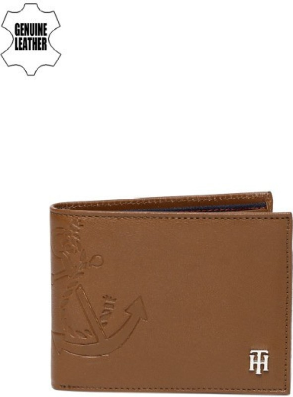 Tommy Hilfiger Men Casual Tan Genuine Leather Wallet(11 Card Slots)