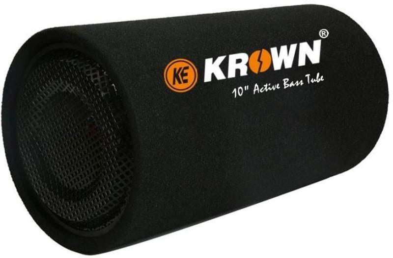 "KE Krown CBT-10R Krown 4800W PMPO 10"" Basstube with Inbuilt Class-D Amplifier (Round Shape) Subwoofer(Powered , RMS Power: 450 W)"