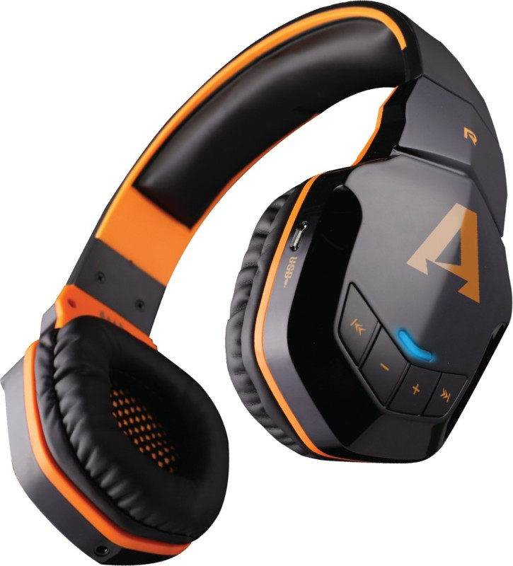 boAt Rockerz 510 Super Extra Bass Bluetooth Headset with Mic(Molten Orange, Over the Ear)