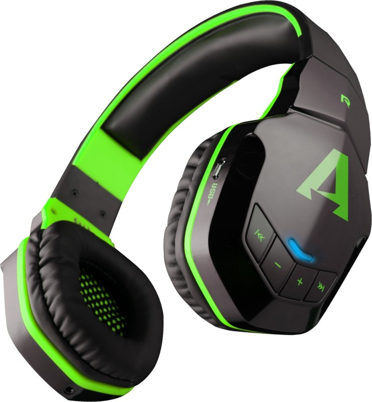 boAt Rockerz 510 Super Extra Bass Bluetooth Headset with Mic(Viper Green, Over the Ear)