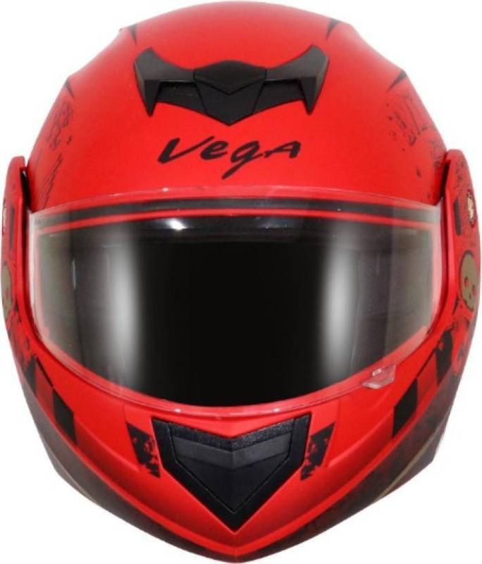 VEGA Crux Dx SPARK Motorbikes Motorbike Helmet(Dull Red)