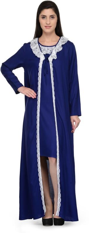 PATRORNA Women Robe(Dark Blue)