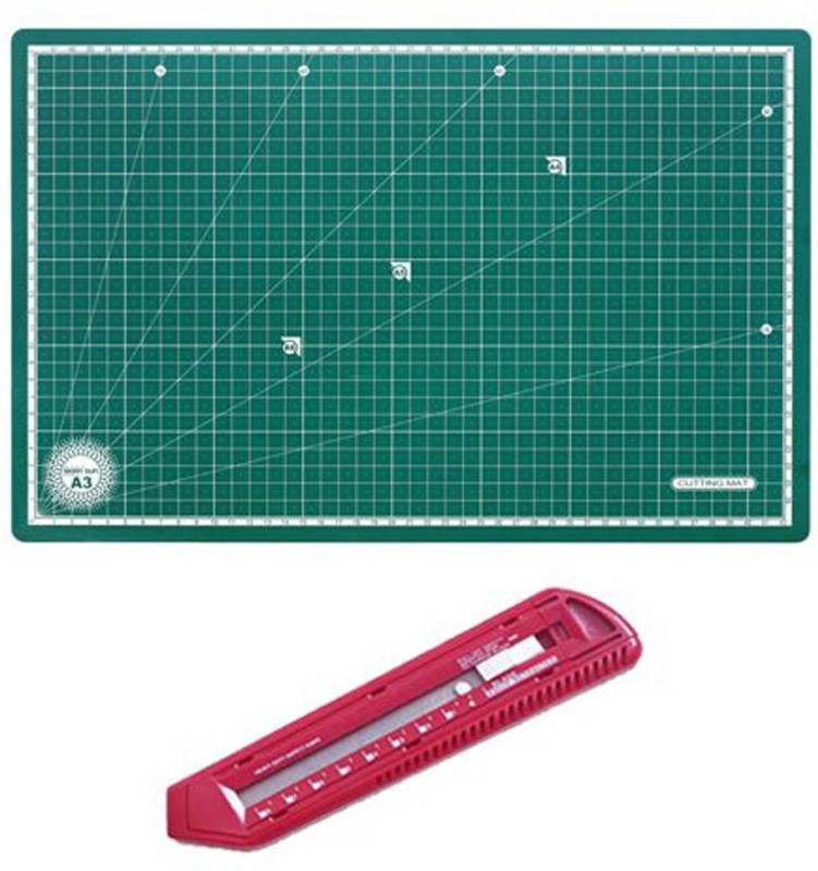 Isomars Jumbo Cutter & Cutting Mat - A3 Size Paper Crafting Tool