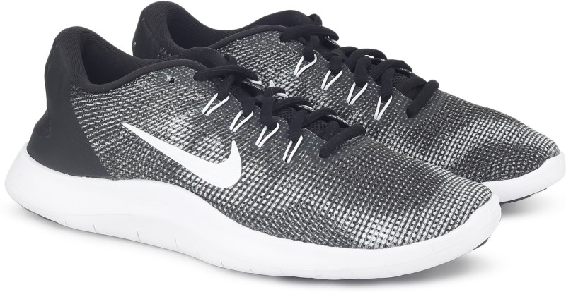 Nike NIKE FLEX 2018 RN Running Shoes For Men(Black, Grey)