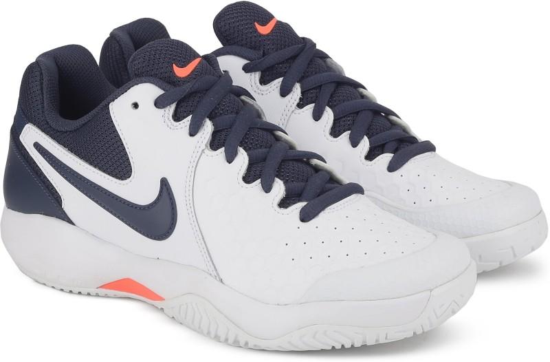 Nike NIKE AIR ZOOM RESISTANCE Tennis shoe For Men(White, Navy)