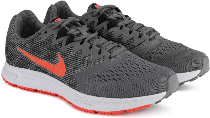 Nike NIKE ZOOM SPAN 2 Running Shoes For Men(Grey)
