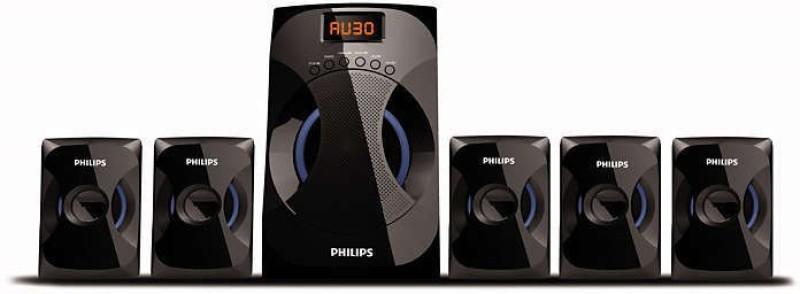 Philips SPA4040B/94 45 W Bluetooth Home Audio Speaker(Black, 5.1 Channel)