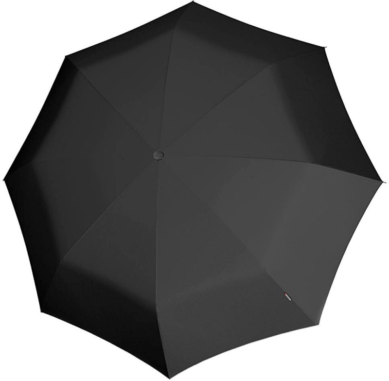 care 4 Two fold Round Handle Umbrella Strong UV Protection Lightweight Automatic for Summer Season - Black Umbrella(Black)