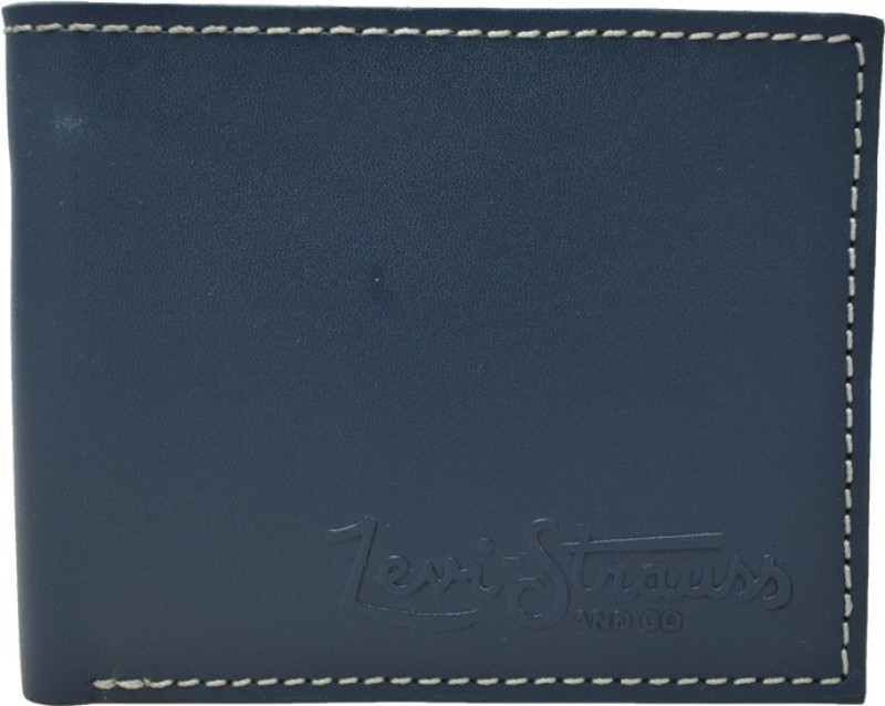 Levis Men Blue Genuine Leather Wallet(6 Card Slots)