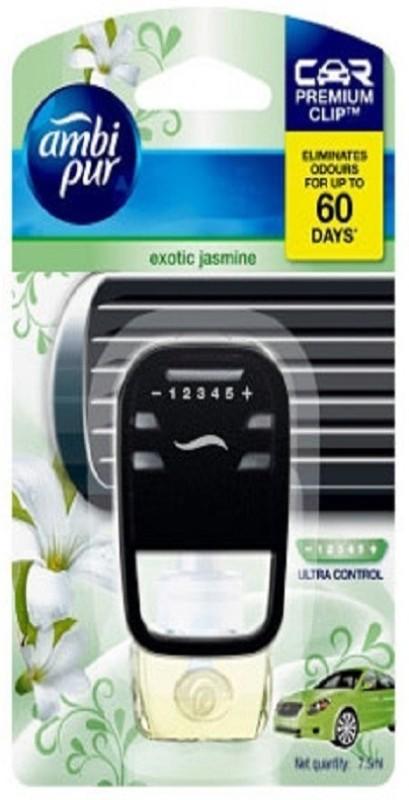 Ambipur exotic jasmine Car Air Freshener Starter Kit (7.5 ml) Car Freshener(7.5 ml)