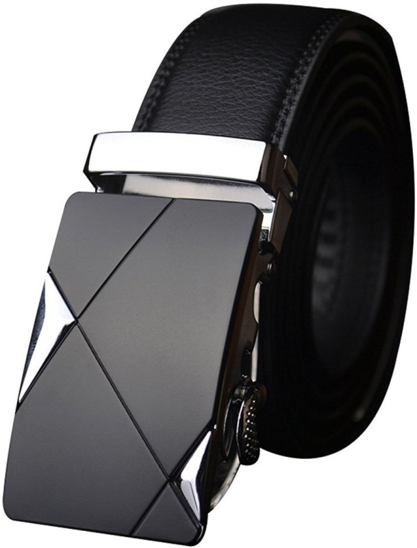 Satyam Kraft Boys Black Artificial Leather Belt