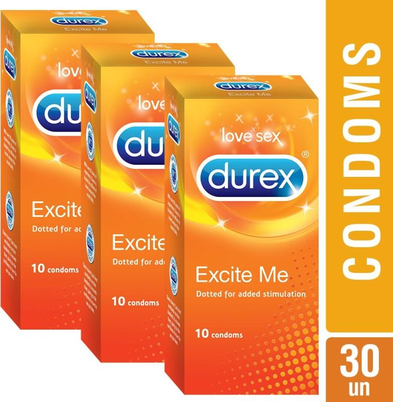 Durex Excite Me Condom(Set of 10, 10S)