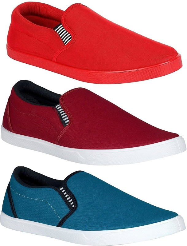 Chevit Combo Pack of 3 Casual Shoes (Loafers and Mocassins) Loafers For...