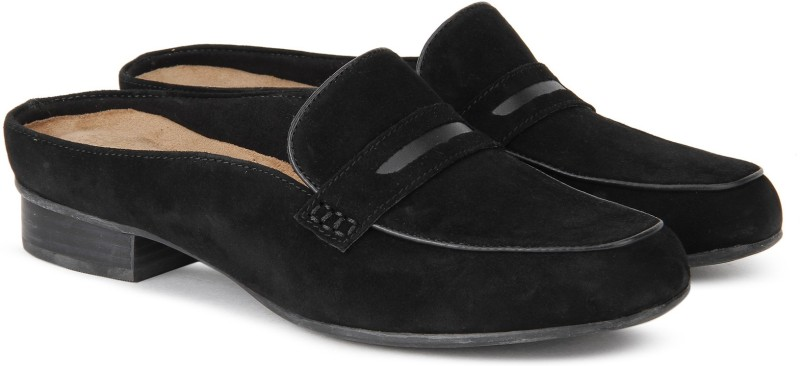 Clarks Keesha Donna Black Sde Loafers For Women(Black)