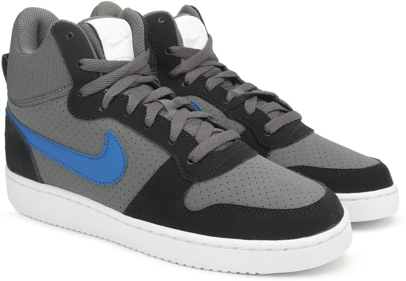 Nike COURT BOROUGH MID Sneakers For Men(Black, Grey)