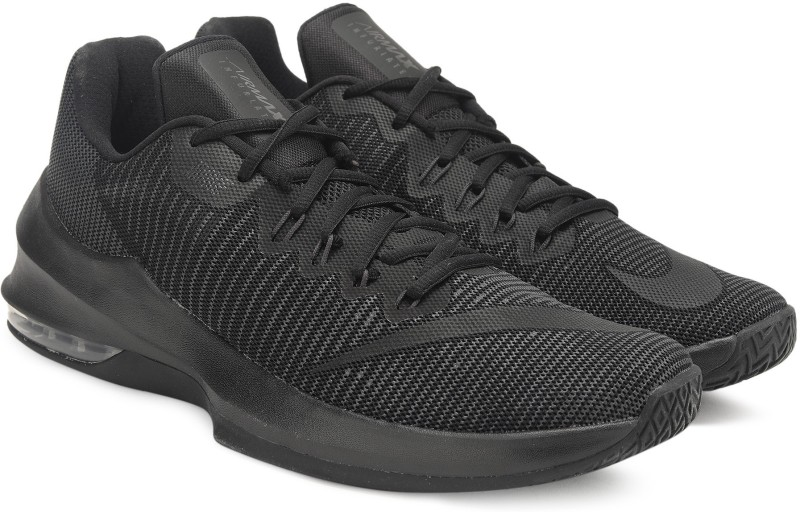 Nike AIR MAX INFURIATE 2 LOW Basketball Shoes For Men(Black)