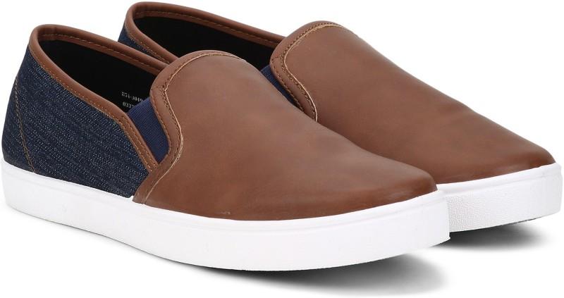 Bata JACOB Slip On Sneakers For Men(Tan)
