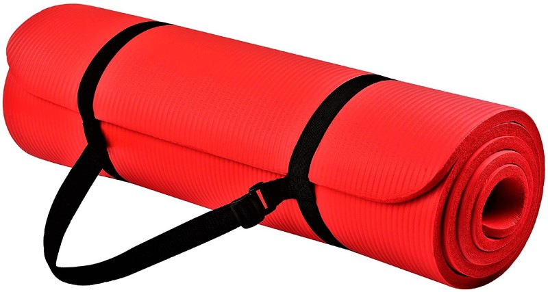 Quick Shel 6MM 100%EVA Eco Friendly Mat RED 6mm Yoga, Exercise & Gym Mat With Yoga Strap Red 6 mm Yoga Mat