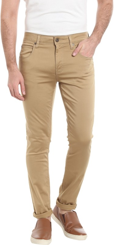 Jack & Jones Slim Fit Men Beige Trousers