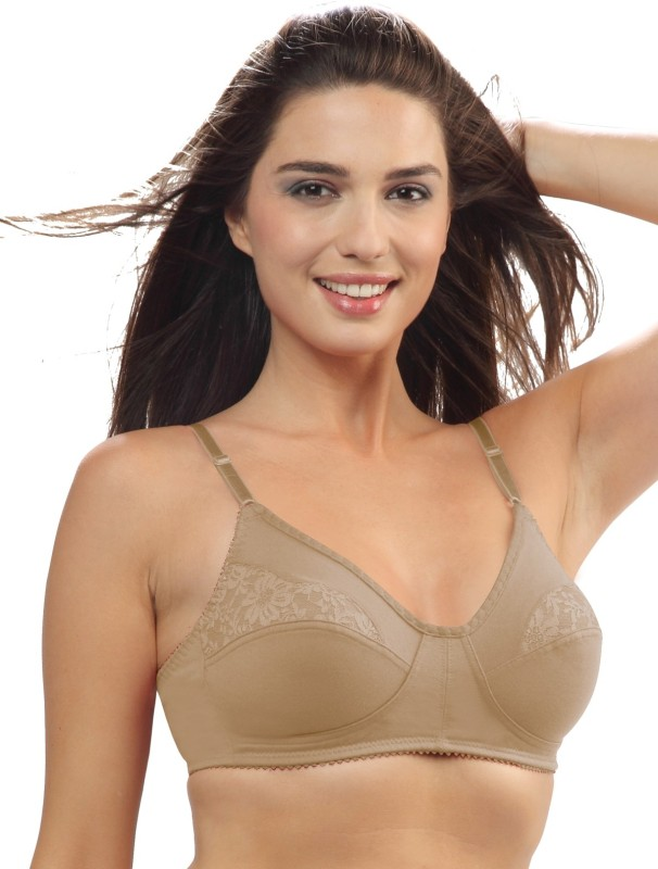 Lovable Womens Full Coverage Non Padded Bra(Beige)