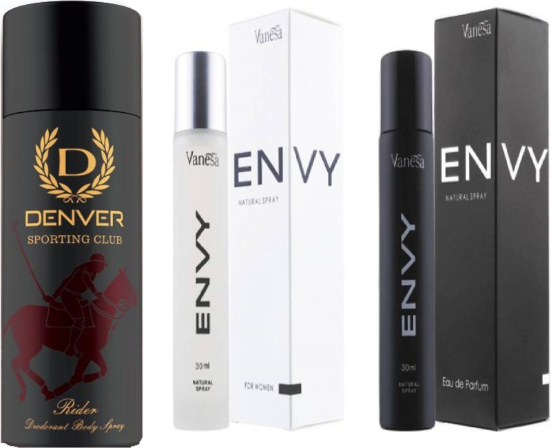 Denver Sporting Club New Rider Deodorant With Envy Men & Women Perfume(2 Items in the set)