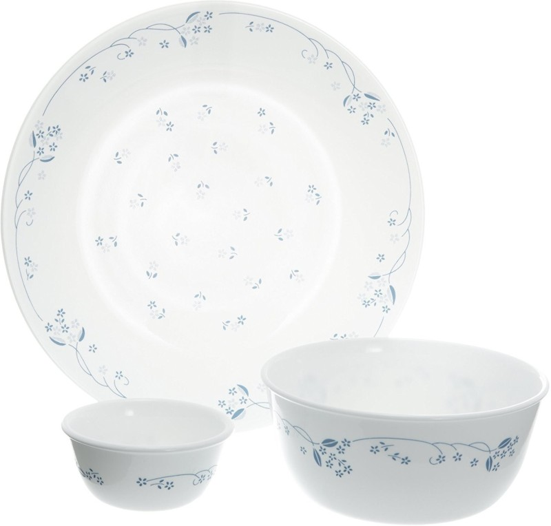CORELLE Gift Set- Provential Blue Pack of 9 Dinner Set(Glass)