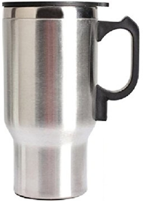 Easymart Travel Outdoor Electric Mug 450 ml Electric Kettle(0.45, Silver and Black)