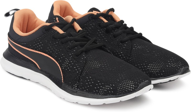 Puma Flex Camo Mesh IDP Running Shoes For Women(Black)