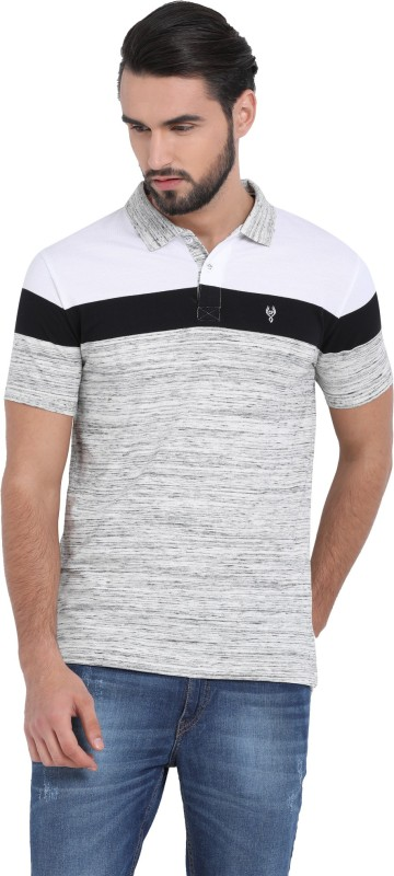 Classic Polo Color block Men Polo Neck Grey T-Shirt
