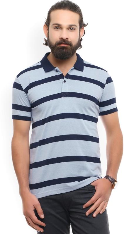 John Players Striped Mens Polo Neck T-Shirt