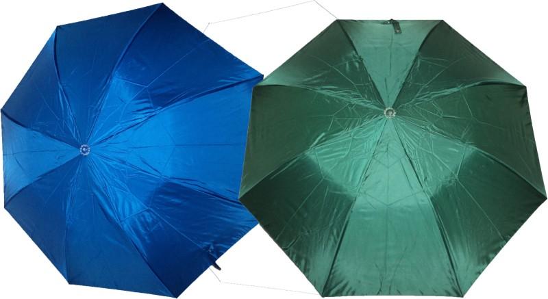 K.C Paul Soumi 2 Fold Umbrella(Blue, Green)
