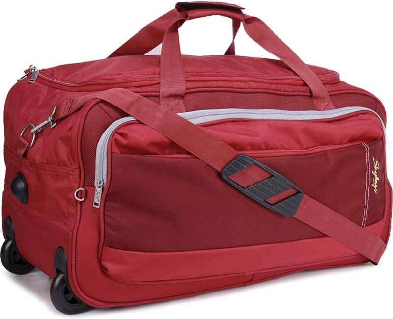 Skybags Italy 62 cms medium Duffel Strolley Bag(Red)