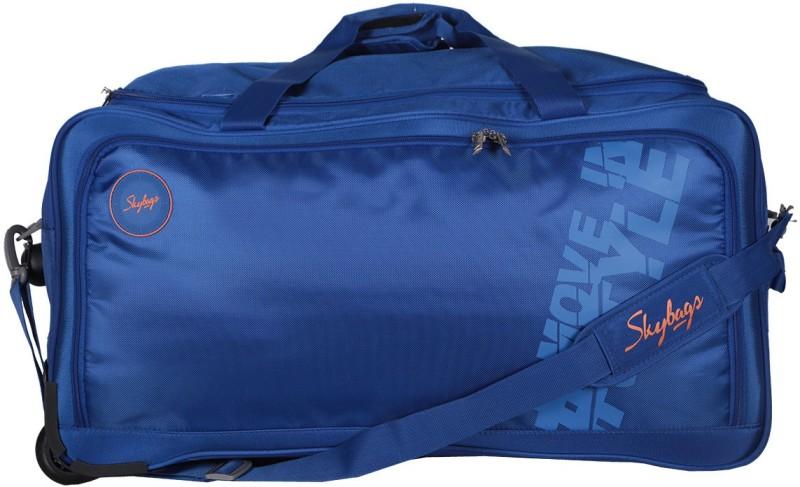 Skybags Casper Wheel Duffle 67cm (Navy Blue) Travel Duffel Bag(Blue)