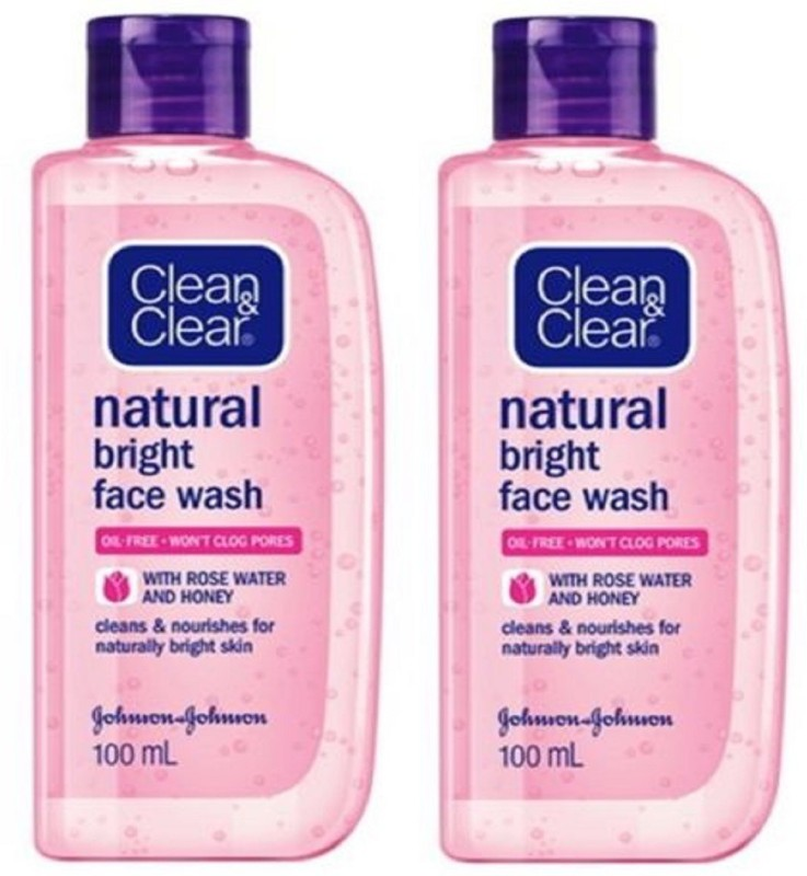 Clean & Clear natural bright Face Wash 100ml + 100ml (PACK OF 2 PC) Face Wash(200 ml)
