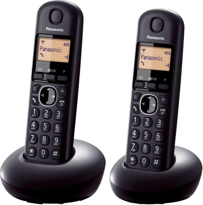 Point Panasonic KX-TGB212EB Digital Cordless Phone with LCD Display (Two Handset Pack) - Black Cordless Landline Phone(Black)