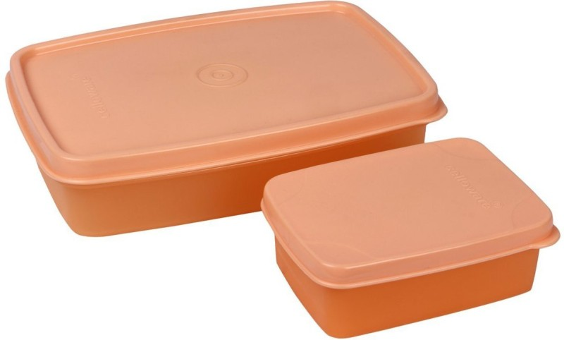 Cello MAX FRESH Compact (Orange) 2 Containers Lunch Box(250 ml)