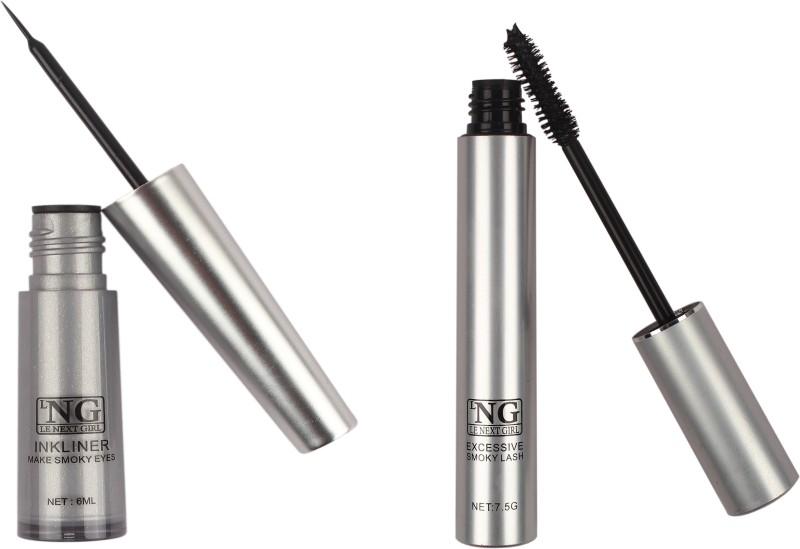 LNG Combo 2 in 1 Glossy Liquid Mascara 7.5 G and Eyeliner 6 13.5 ml(Black)