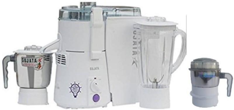 SUJATA Powermatic Plus With Chutney Jar 900 W Juicer Mixer Grinder(White, 3 Jars)