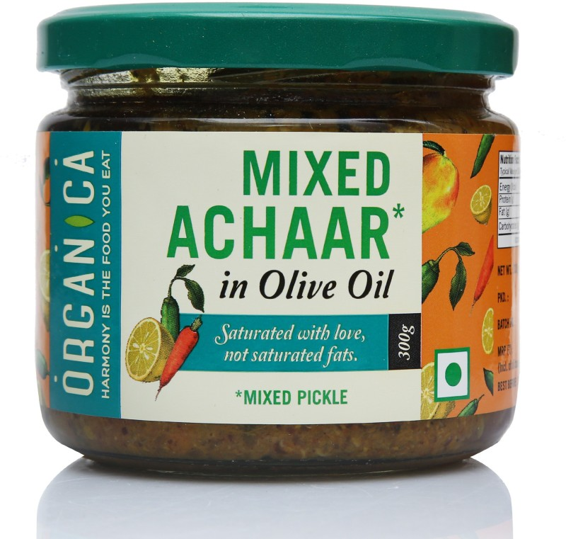 Organica Olive Oil Mixed Pickle Mixed Vegetable Pickle(300 g)