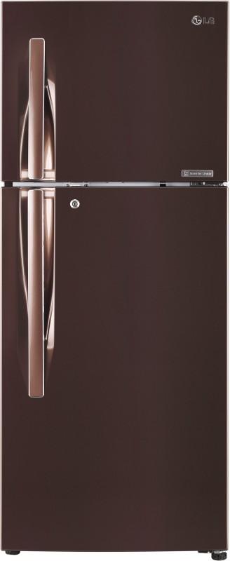 LG 260 L Frost Free Double Door 4 Star (2019) Convertible Refrigerator(Amber Steel, GL-T292RASN)