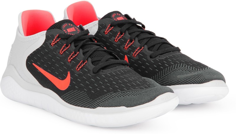 Nike FREE RN 2018 Running Shoes For Men(Black, Grey)