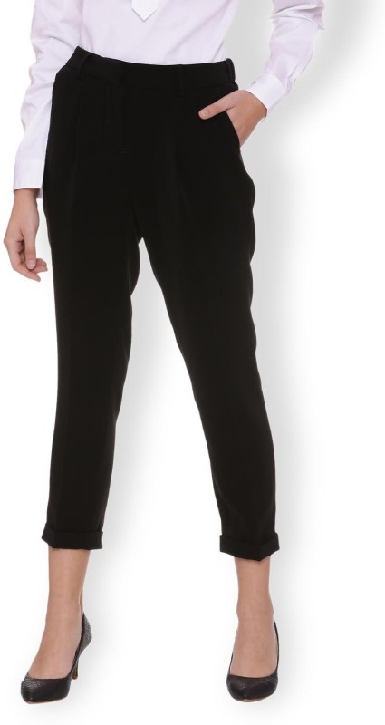 Van Heusen Slim Fit Women Black Trousers