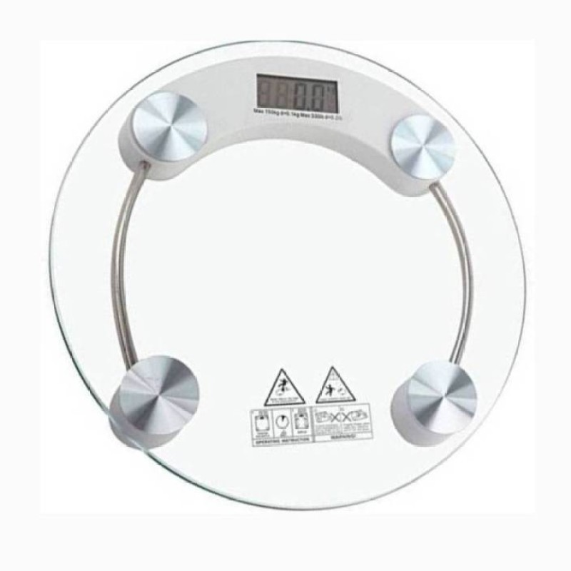 Mezire ®180 Kg Measure With Heavy Thick Glass Electronic Scale Personal Weighing Scale (White) Weighing Scale  (Transparent) Weighing Scale(Transparent)