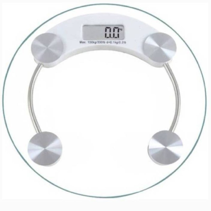 Mezire ®Strong Transparent Round Weighing Scale (White)  Weighing Scale(Transparent)