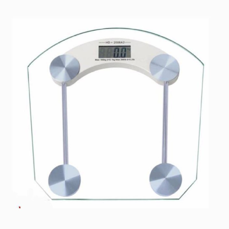 Mezire ®6mm Tough Glass Weighing Scale (Clear)  Weighing Scale(Transparent)