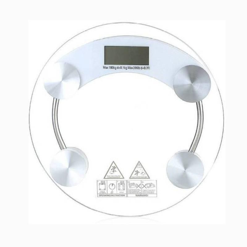 Mezire ®Accurate Body Fat Monitor Round Weighing Scale (Transparent) Weighing Scale  (Transparent) Weighing Scale(Transparent)
