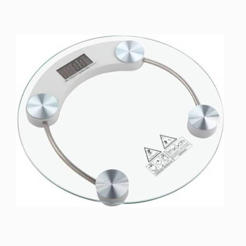 Mezire Personal Weight Machine 8mm Round Glass Weighing Scale (Transparent) Weighing Scale  (Transparent) Weighing Scale(Transparent)